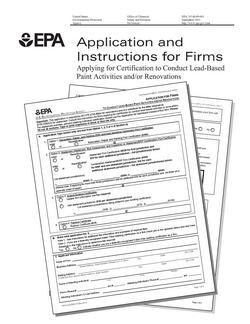 EPA RRP Certified Firm Application