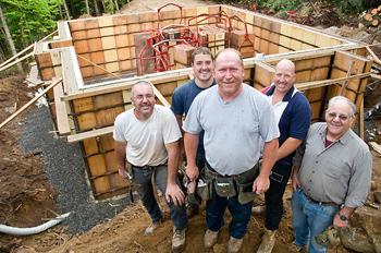 Construction crew on video