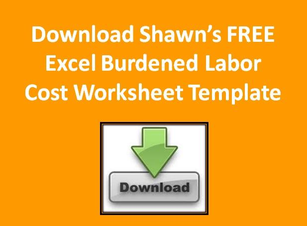Burdened cost of labor worksheet