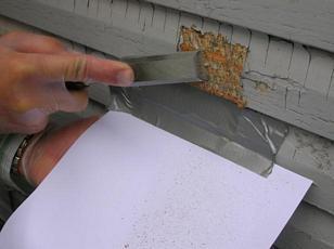 Paint chip sampling