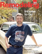 Shawn on cover of Remodeling magazine