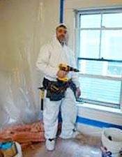 Shawn McCadden doing EPA RRP work practices