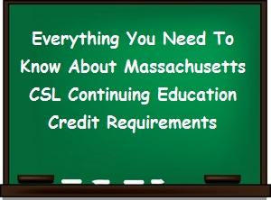 Information about renewing a Mass CSL
