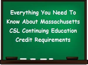 Information about renewing a Mass CSL