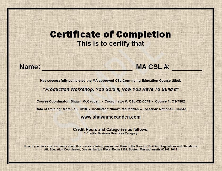 Sample Training Certificate. Simple Training Certificate Template ...