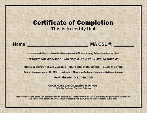 Sample ma csl ceu course completion certificate here is a sample certificate of completion yelopaper Images