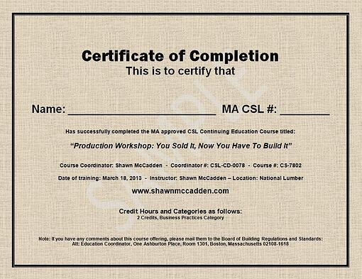 Here Is A Sample Certificate Of Completion