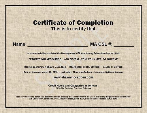 sample ma csl ceu course completion certificate
