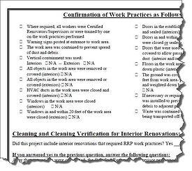 RRP Checklist Form