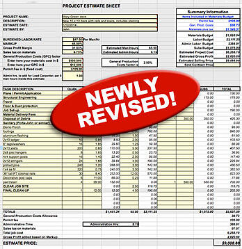 Request Shawns Excel Estimating Template