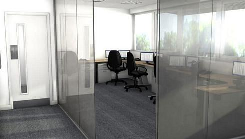 Office space layout for contractors