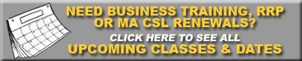 need business training, rrp or csl renewals - click to see all upcoming classes and dates